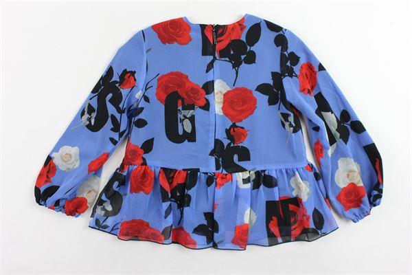 camicia manica lunga stampa a fiori MSGM | Camicie | 016342BLUETTE