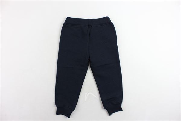 pantalone tuta felpato tinta unita con stampa MSGM | Pantaloni | 016501BLU