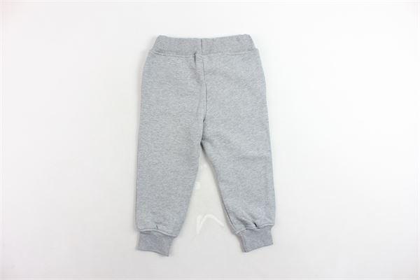 pantalone tuta felpato tinta unita con stampa MSGM | Pantaloni | 016501GRIGIO