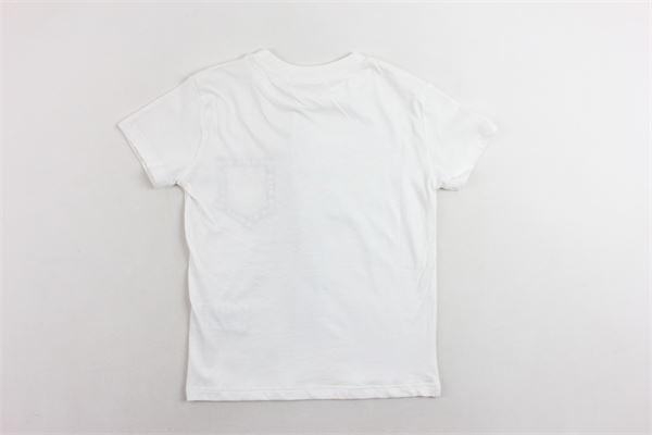 t-shirt mezza manica tinta unita con stampa MSGM | T-shirts | 016519BIANCO