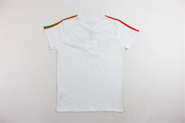 t-shirt mezza manica tinta unita con stampa MSGM | T-shirts | 021372BIANCO
