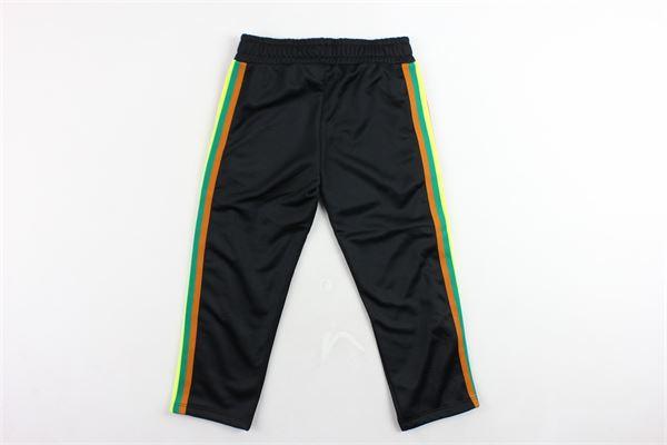 pantalone tuta triacetato tinta unita profili colorati MSGM | Pantaloni | 021374NERO