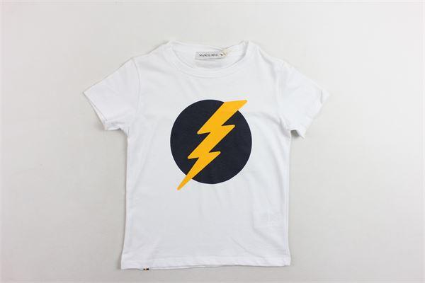 t-shirt mezza manica tinta unita con stampa MANUEL RITZ | T-shirts | MR0431BIANCO
