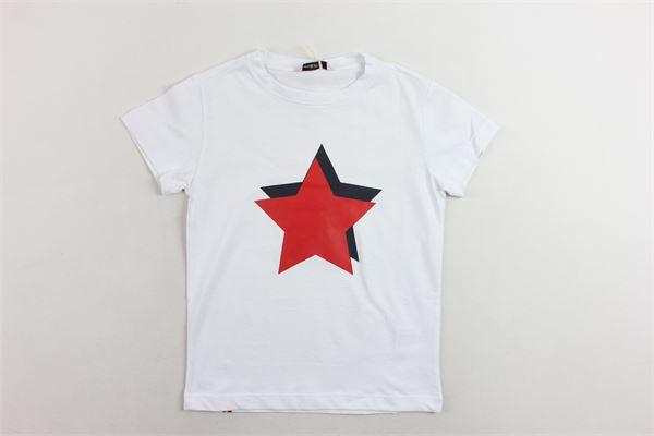 t-shirt mezza manica tinta unita con stampa MANUEL RITZ | T-shirts | MR0436BIANCO