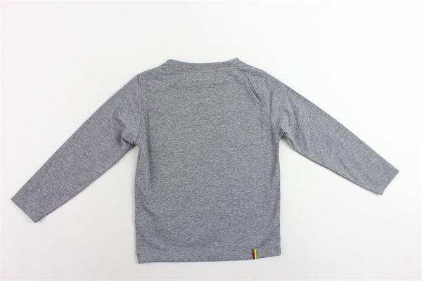 shirt manica lunga tinta unita con stampa MANUEL RITZ | Shirts | MR0437GRIGIO