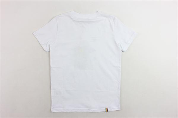 t-shirt mezza manica tinta unita con stampa MANUEL RITZ | T-shirts | MR0438BIANCO