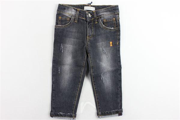 jeans 5 tasche tinta unita girovita regolabile MY CLOSET | Jeans | PTMY9309BMNERO