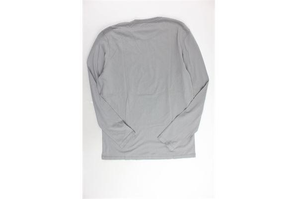 shirt manica lunga tinta unita con stampa NAPAPIJRI | Shirts | N0YF4K161GRIGIO