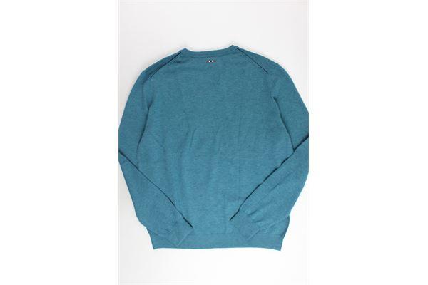 maglione scollo a punta tinta unita NAPAPIJRI | Maglie | NOYGPAGC1VERDE ACQUA