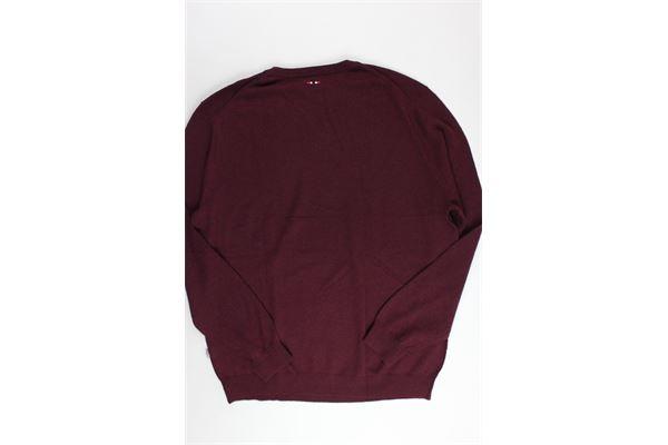 maglione scollo a punta tinta unita NAPAPIJRI | Maglie | NOYGPAR82BORDEAU
