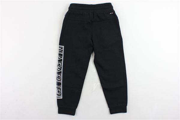 pantalone tuta felpato tinta unita con stampa NAPAPIJRI | Pantaloni | NP000IWE0411NERO