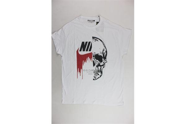t-shirt mezza manica tinta unita con stampa NARCISO | T-shirts | NIKEUOMOBIANCO