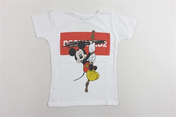 t-shirt mezza manica con stampa NARCISO | T-shirts | TOPOLINOBIANCO