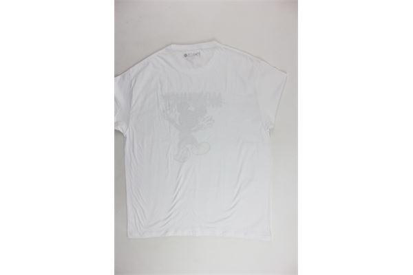 t-shirt mezza manica tinta unita con stampa NARCISO | T-shirts | TOPOLINOUOMOBIANCO