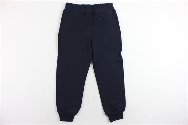 pantalone tuta felpato tinta unita con stampa NEIL BARRETT   Pantaloni   020625BLU