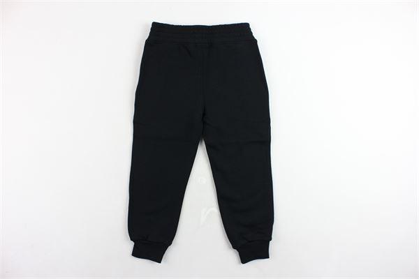 pantalone tuta felpato tinta unita con stampa NEIL BARRETT | Pantaloni | 020625NERO