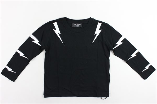 shirt manica lunga tinta unita con stampa NEIL BARRETT | Shirts | 020631NERO