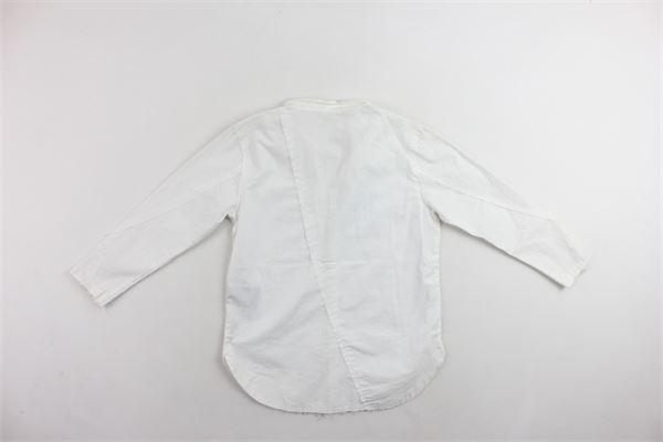 camicia manica lunga in cotone tinta unita NOSTRA SANTISSIMA | Camicie | 87FBC003BIANCO