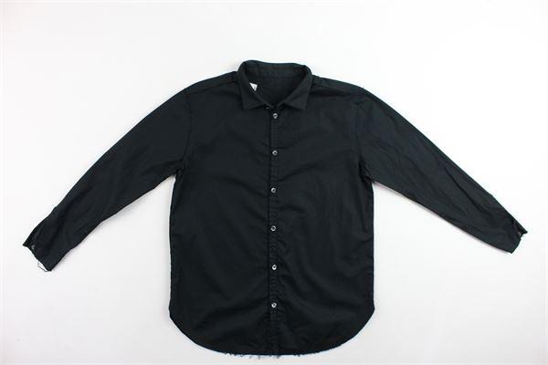 camicia manica lunga in cotone tinta unita NOSTRA SANTISSIMA | Camicie | 87FBC003NERO