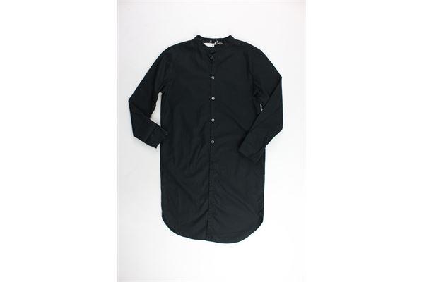 camicia lunga collo coreano tinta unita 100%cotone NOSTRA SANTISSIMA | Camicie | 91FBC02NERO