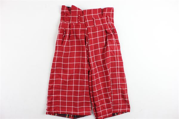 pantalone scozzese a palazzo reversibile NUNZIA CORINNA | Pantaloni | NJ6013535/T5951ROSSO