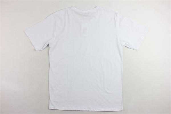 t-shirt mezza manica tinta unita con taschino e stampa OFFICINA36 | T-shirts | CUAM28BIANCO