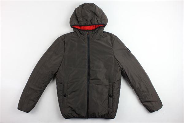 giubbini reversibile con cappuccio e zip bicolore OFFJACKET | Giubbini | OFJA501ROSSO