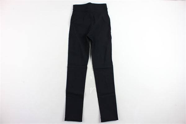 pantalone tipo leggins tinta unita OROBLU' | Pantaloni | VOBT64932NERO