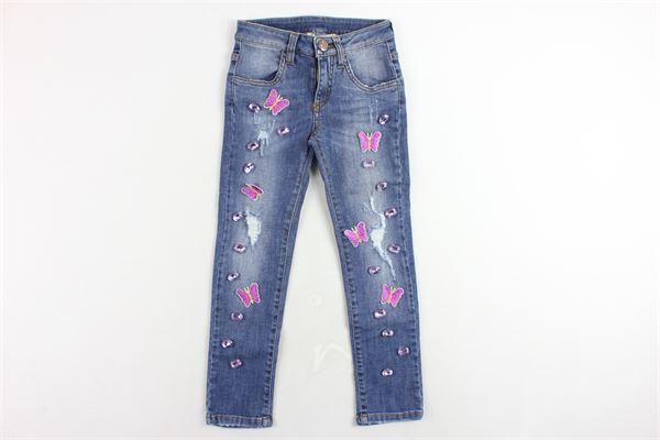 jeans 5 tasche tinta unita con applicazioni PANILLA | Jeans | N207021AZZURRO