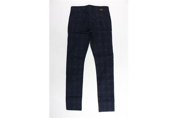 pantalone tasca a filo fantasia a quadri PAOLO PECORA | Pantaloni | PP0207BLU