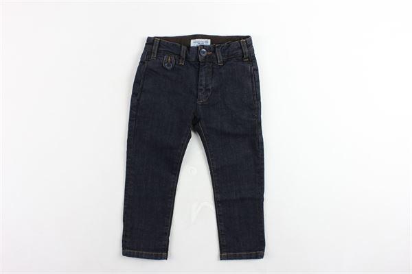 jeans tasche a filo tinta unita girovita regolabile PAOLO PECORA | Jeans | PP0221BLU