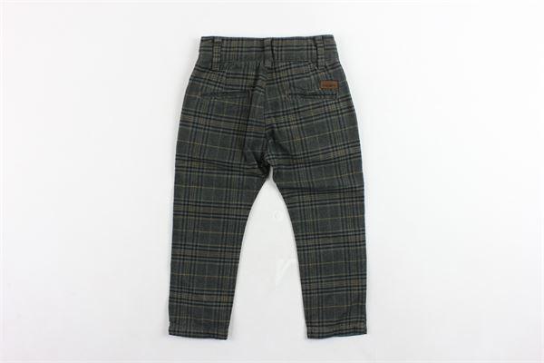 pantalone tasca a filo girovita regolabile fantasia a quadri PAOLO PECORA | Pantaloni | PP0251VERDE
