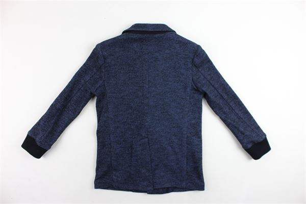 cappotto lungo tinta unita microfantasia PAOLO PECORA | Giubbini | PP0667BLU