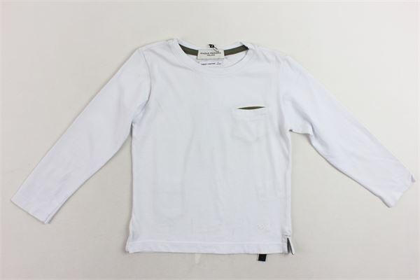 shirt manica lunga tinta unita con finto taschino PAOLO PECORA | Shirts | PP1062BIANCO