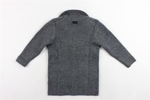 cardigan lungo in lana tinta unita PAOLO PECORA | Maglie | PP1412GRIGIO