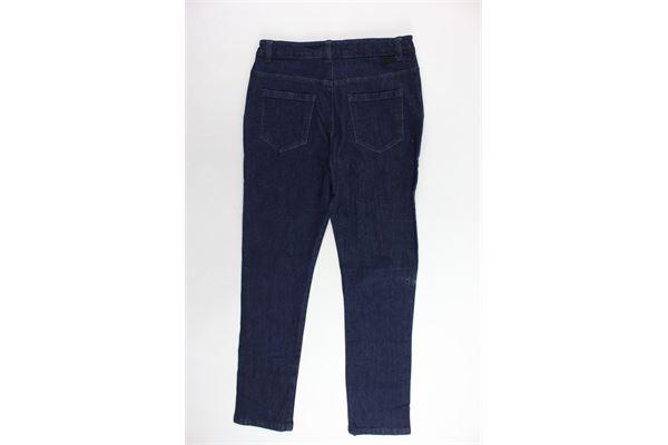 jeans tasca america tinta unita profili in contrasto PAOLO PECORA | Jeans | PP1466BLU