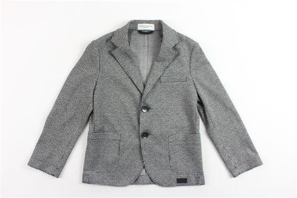 giacca microfantasia con taschini PAOLO PECORA | Giacche | PP1589NERO