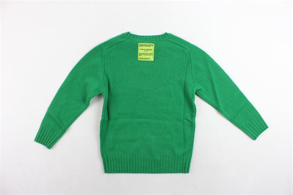 maglione girocollo in lana merino tinta unita PAOLO PECORA | Maglie | PP1926VERDE