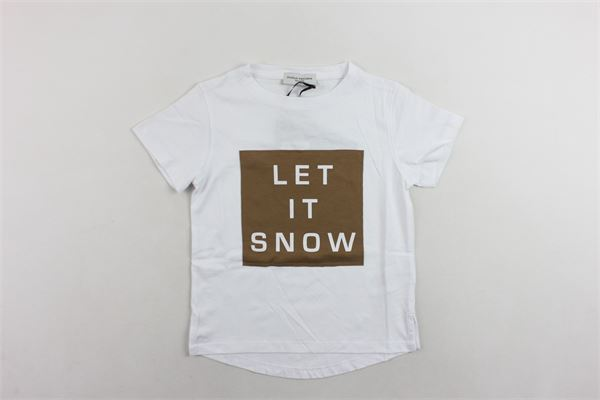t-shirt mezza manica tinta unita con stampa PAOLO PECORA | T-shirts | PP1957BIANCO
