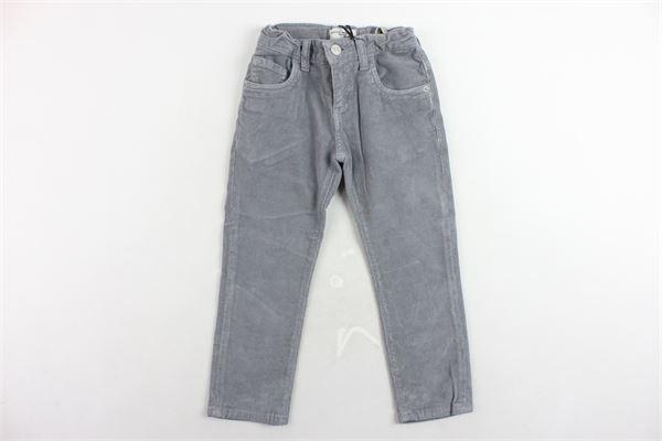 pantalone 5 tasche in velluto a costine tinta unita girovita regolabile PAOLO PECORA | Pantaloni | PP1978GRIGIO