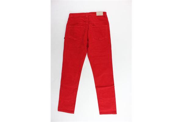 pantalone 5 tasche in velluto a costine tinta unita girovita regolabile PAOLO PECORA | Pantaloni | PP1978ROSSO