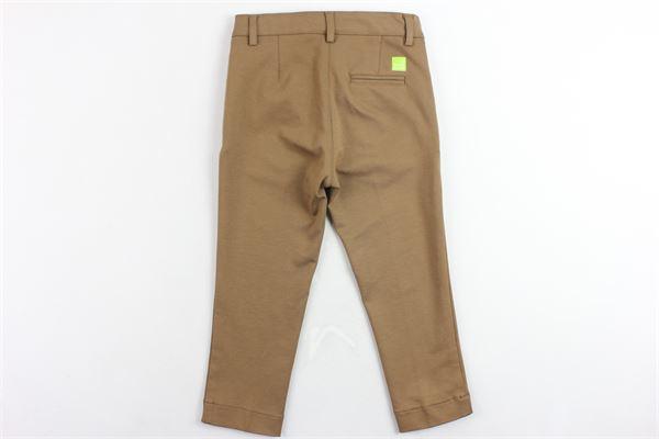 pantalone tasca america tinta unita girovita regolabile PAOLO PECORA | Pantaloni | PP2018CAMMELLO
