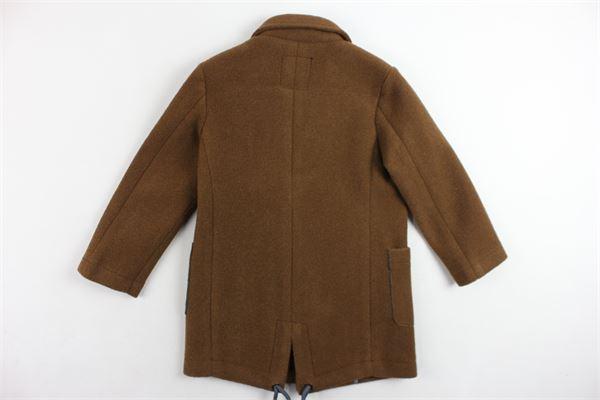 cappotto lungo tinta unita PAOLO PECORA | Giubbini | PP2030MARRONE