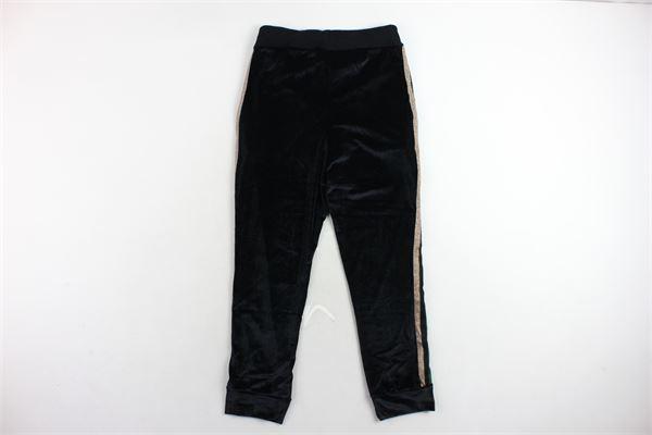 pantalone tuta in ciniglia profili in lurex PARENTAL ADVISORY | Pantaloni | AD966DNERO