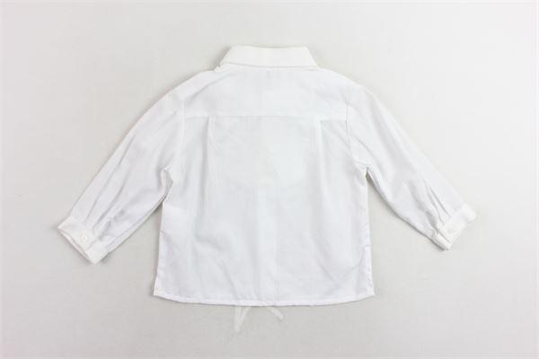 camicia manica lunga tinta unita con papillion PATACHOU | Camicia | PAP/CM2733371BIANCOX