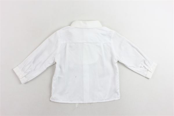 camicia manica lunga tinta unita con papillion PATACHOU | Camicia | PAP/CM2733371BIANCO