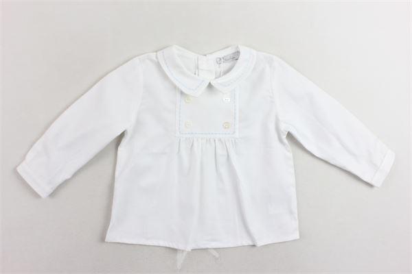 camicia manica lunga tinta unita con ricami PATACHOU | Camicie | PAP/CM2933067BIANCO