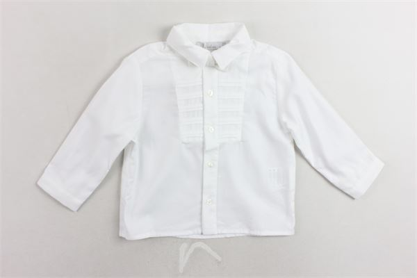 camicia manica lunga tinta unita con papillion PATACHOU | Camicie | PAP/CM2933373BIANCO