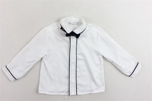 camicia manica lunga tinta unita con papillion PATACHOU | Camicie | PAP/CM2933376BIANCO