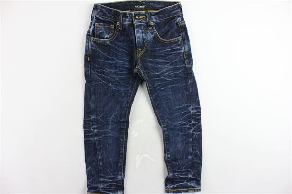 jeans 5 tasche tinta unita girovita regolabile PATRIOT | Jeans | PB684BLU